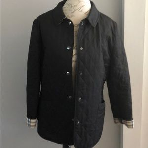 AUTHENTIC BURBERRY BLACK QUILTED COAT
